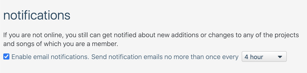 Configurable email notifications