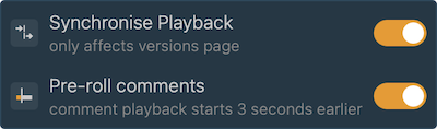 Pre-roll playback mode